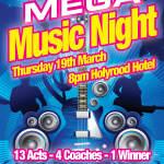 Mega Music Night Poster Foroige Bundoran